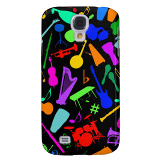 Music Instruments Collage 3G/3GS Galaxy S4 Case