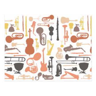 Music Instruments Postcard