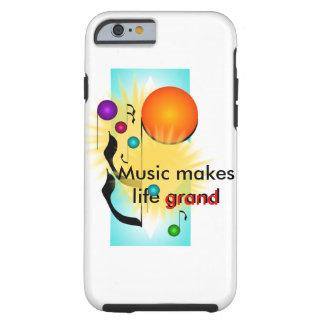 Music iPhone Musicians Gift Musical Fun Tough iPhone 6 Case