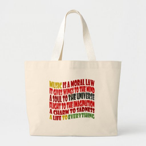 Music is a Moral Law Canvas Bags