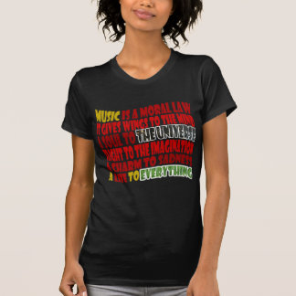 Music is a Moral Law Tee Shirt
