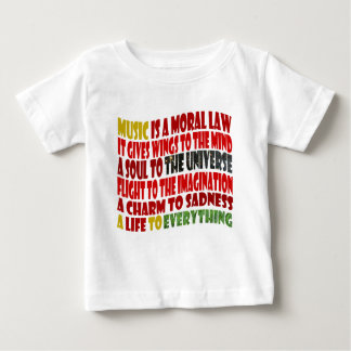 Music is a Moral Law T Shirts