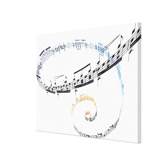 Music is Based on Fanataisie Canvas Print