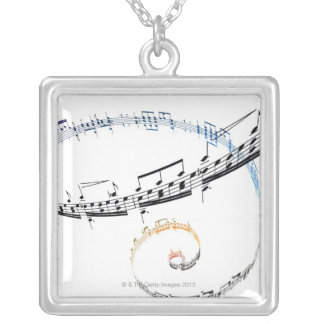Music is Based on Fanataisie Silver Plated Necklace