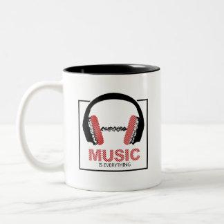 Music Is Everything Two-Tone Coffee Mug