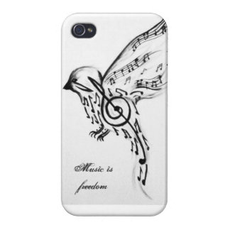 Music is freedom iPhone 4 cases