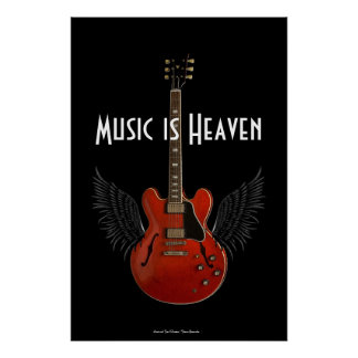 Music is Heaven 36 x 34 Poster