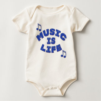 Music is Life Baby Bodysuit