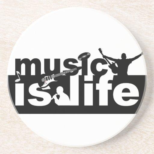 Music is life coaster - customize!