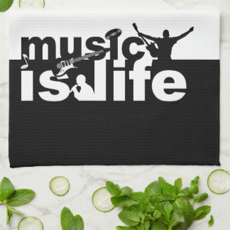 MUSIC IS LIFE custom kitchen towel
