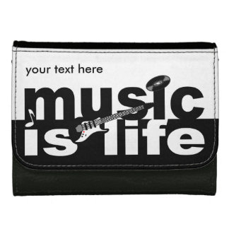MUSIC IS LIFE custom wallets
