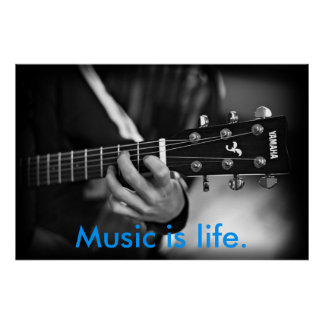 Music is Life Guitar poster