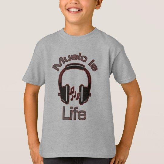 Music is Life Headphones Boys T-Shirt