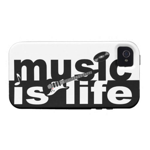 Music Is Life iPhone 4 Case-Mate