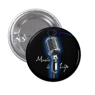 Music Is Life - minibutton 3 Cm Round Badge