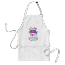 Music is Life Motto Standard Apron