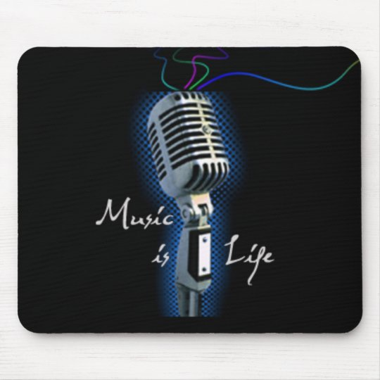 Music is Life Mouse Mat