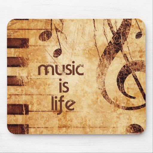 Music is Life Mousepads
