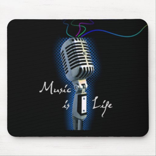 Music is Life Mouse Pads