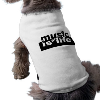 Music is life pet clothing
