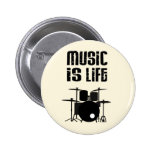 Music Is Life Pinback Button
