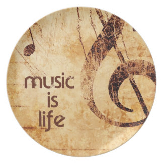 Music is Life Plate