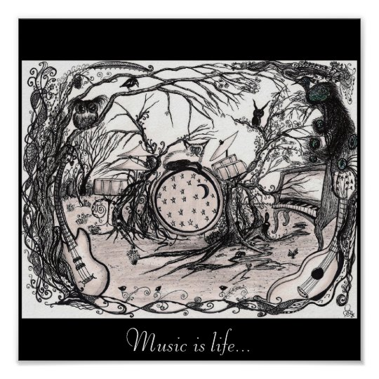 Music is life - Poster/print Poster