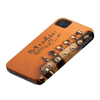 Music is Life with Guitar Machine Head Case-Mate iPhone 4 Cases