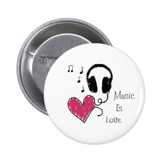 Music Is Love Pin