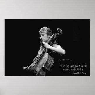 Music is Moonlight Fine Art Poster/Canvas/Print Poster