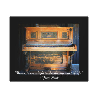 Music is moonlight quote photograph canvas print