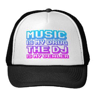 Music Is My Drug - DJ Djing Disc Jockey Dealer Mesh Hats