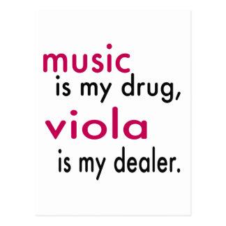 Music Is My Drug, Viola Is My Dealer Postcard