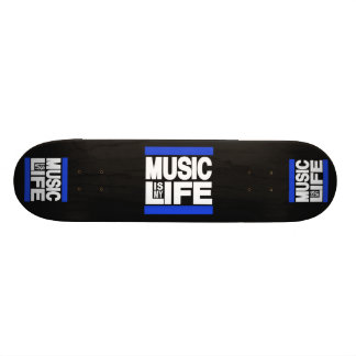 Music is My Life Blue 21.6 Cm Skateboard Deck