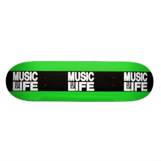 Music is My Life Green Skate Board