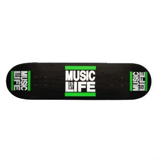 Music is My Life Green Custom Skateboard