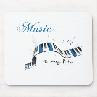 Music is my life mouse pad