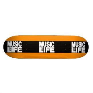 Music is My Life Orange Skate Board