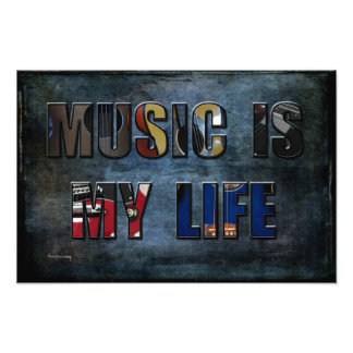 Music is My Life Photographic Print