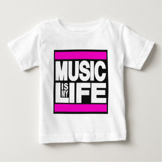 Music is My Life Pink Baby T-Shirt