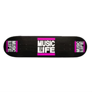 Music is My Life Pink Custom Skate Board