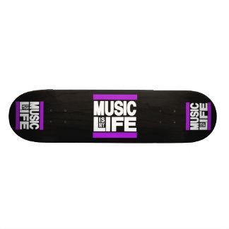 Music is My Life Purple Skateboards