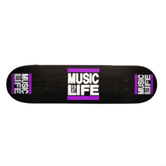 Music is My Life Purple Skate Deck