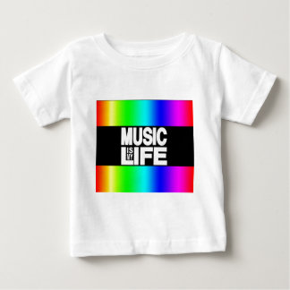 Music is My Life Rainbow Baby T-Shirt