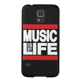 Music is My Life Red Galaxy S5 Case