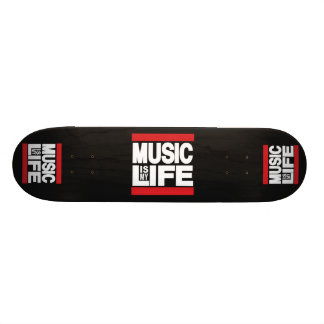 Music is my life Red Skate Board Decks