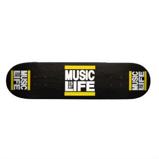 Music is My Life Yellow Custom Skate Board