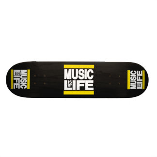 Music is My Life Yellow Skate Decks