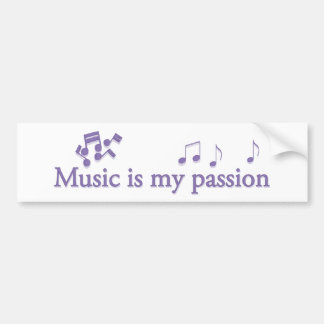 Music is my passion bumper sticker