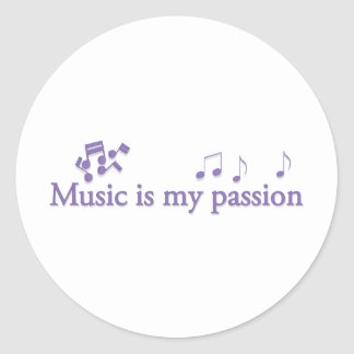 Music is my passion sticker